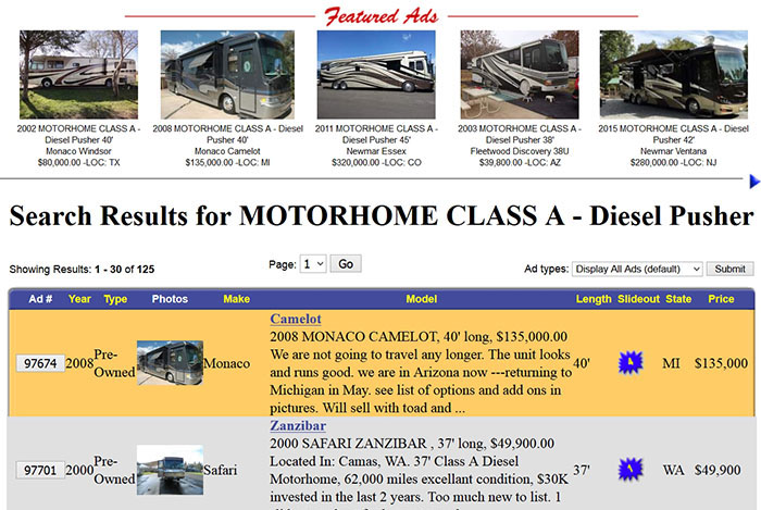 Featured ad RV